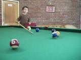 Back at Baikunth Resort.  First game of pool.