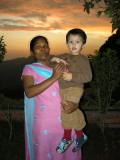 Anna and Rahil at sunset.