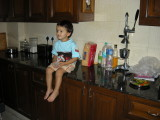 Hanging out in the kitchen