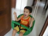 Fun swinging.