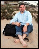 Me Relaxing on Manhattan Beach