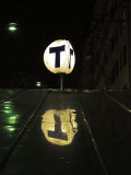 The sign of the underground