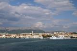 Arriving in Split by ferry