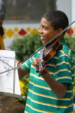Young street musician
