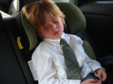 The Duke (aka Lucas ... age 5) after a hard day at the office