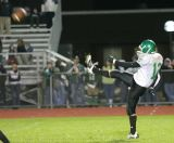 Luke Daly getting off one of seven punts for the night