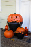 Porch Pumpkin Display