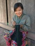 Embroidery in the Yao Mien village of JhongXa - Laos