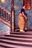 C.S. Firemen Take the Stairs