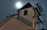 Steeple repair by moonlight