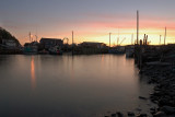 Harbourville after sunset