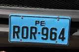 Peruvian license plate (blue)