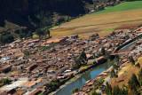 The village of Pisaq with the Urubamba River, Peru