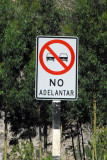 Spanish road sign - No Adelantar