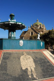 Fountain on the plaza of Lampa