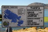 Information sign at Puno Harbor