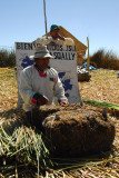 Island guide of the Uros people