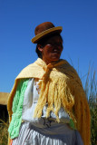 Uros woman, Lake Titicaca