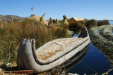 Boats like this made of tight bundles of reeds last several months