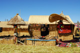 Tourist market, Uros Islands, Lake Titicaca