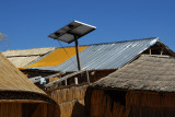 Solar panel, Uros Islands, Lake Titicaca