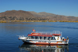 Large Lake Titicaca tourist boat