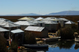 More durable tin huts, Uros Islands, Lake Titicaca