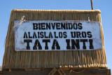 Bienvenidos ala Isla Los Uros Tata Inti