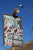 Price list, Puno market
