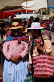 Peruvian woman at Puno market