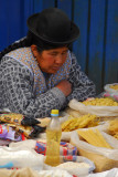 Woman dozing over her pasta
