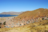 Driving up to Cerros Asogini, a high viewpoint above Puno