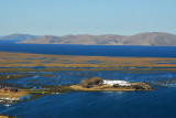 Lake Titicaca with Hotel Libertador and the Floating Islands of the Uros people