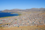 Great view of Puno from Cerro Asogini but the road is bad