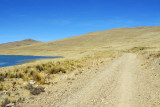 The dirt road passes to the north of this small lake so it seems to be unmapped