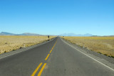 Straight road across the Altiplano, Salinas National Reserve