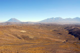 Volcan Misti on the left and Nevado Chachani on the right