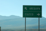 Here, we turn north away from Arequipa heaed to Chivay and Colca Canyon
