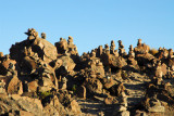 Rocks piled at the high point on the road to Chivay at 4860m (15,944ft)