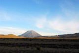 Circling around Volcan Misti on the way to Arequipa