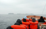 Our boat heading for the Islas Ballestas
