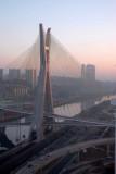 Octavio Frias de Oliveira Bridge at dawn