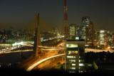 Octavio Frias de Oliveira Bridge at night, São Paulo