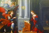 The Annunciation by Garofalo (Benvenuto Tisi) 1528 for the convent of St. Beradine in Ferrara