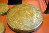 Disk carved with magical symbols associated with the Elizabethan magicial Dr. John Dee (1527-1608)