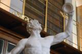 Rondanini Faun (satyr) dancing with cymbals, 2nd C. Roman restored in the 17th C.