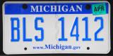Michigan License Plate