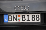 German license plate from Bonn