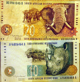 South African banknotes - 10 and 20 rand