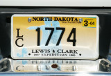 North Dakota License Plate - Lewis & Clark